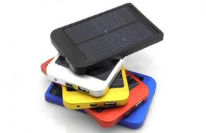 China Solar Charger Li-on Battery LED indication 2600mAh ,Black Color for Nokia,smartphone with color box on sale