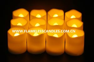 China Artificial Wax Flameless LED Votive Candles Lighting , Electronic Battery Operated LED Candles on sale