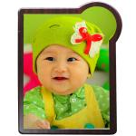 Cute Shield Blank Wooden Award Plaques With Baby Photo Competitive Style