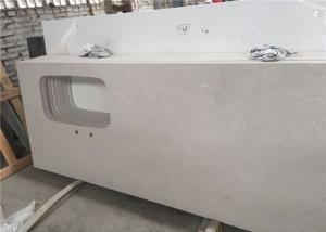 China Gray Cloudy Prefabricated Quartz Countertops , Steady Quartz Kitchen Countertops on sale