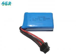 China Toy Helicopter RC Drone Battery 7.4V 753048 2S 850mAh With PCM XH/JST/SM Connector on sale