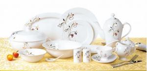 China 72pcs fine bone china dinnerware on sale