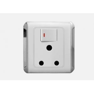 China South African 15A 250V 1 gang switched light switch socket PC ABS wall sockets HYG-015 on sale