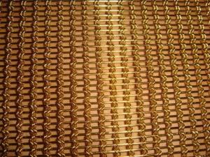 China Braid Woven Architectural Mesh for Facade Cladding,Brass Decorative Cable Rope Woven Mesh on sale