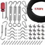 170Ft Steel Wire Rope Assemblies For Indoor And Outdoor String Light Suspension