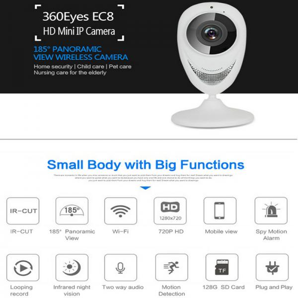 724d4298a2b EC8 HD 720P Mini Wifi IP Camera Wireless P2P Baby Monitor Network Remote  CCTV Images