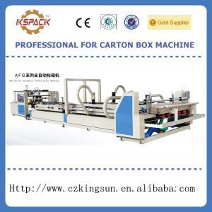 China Automatic corrugated carton box making machine,automatic folde gluer machine on sale
