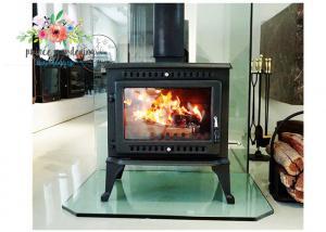 China Free Standing Polished Cast Iron Fireplace on sale