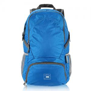 China Blue Lightweight Hiking Backpack Foldable Women Hiking Backpacks 30 * 15 * 45cm on sale