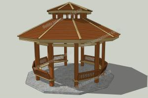 China WPC patio gazebo ideas OLDA-6010 22.2ft.*23.3ft.*20ft. on sale