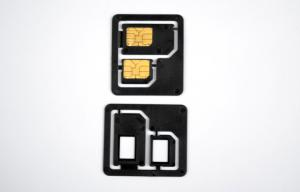 China Plastic ABS Dual SIM Card Adapters / Dual SIM Adaptor For Regular Phone on sale