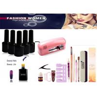 Professional Gel Nail Kits Paint UV Gel With 9W 36W Nail Dryer For Salon