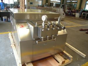 China Small Scale Milk Homogenizer , Industrial Homogenizer Equipment Polished on sale