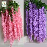 China UVG WIS006 Indoor cheap fake flowers with silk wisteria for home decoration wholesale