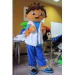 Trajes da mascote do personagem de banda desenhada de Diego do amigo de Dora com capacete de alta qualidade