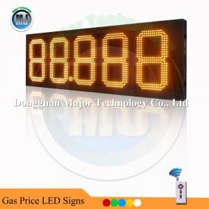 China 12 Inch Amber RF Remote Control Outdoor LED Gasoline Price Sign on sale