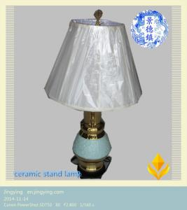 China green smooth ceramics standing lamp on sale
