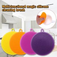 New Silicone Dish Washing Sponge Scrubber Cleaning Antibacterial Kitchen Tools Kitchen Cleaning Accessories