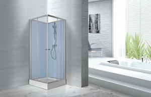 China Fitness Halls 800 X 800 X 2250mm Glass Shower Stalls With Silver Aluminum Frame on sale