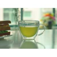 Double Walled Glass Tea Cups With Handle Heat Resistant Borosilicate Glass