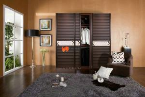 China Anti aging / Space Saving Double Plastic Remote Control Sliding Doors Without Glass on sale