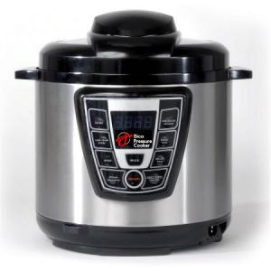 China Electric Pressure Cooker,Stainless Steel Black & Silver 7-in-1 Multi-Functional Pressure Cooker, 6Qt/1000W on sale