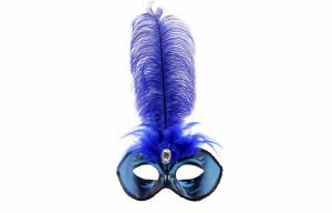 "China Mask with Ostrich feather party 12"" PF3133 on sale"