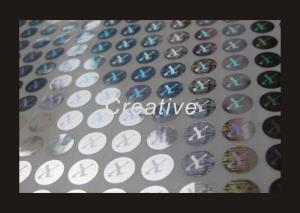 China 2D / 3D Custom Hologram Stickers Waterproof Anti - Counterfeit Labels on sale