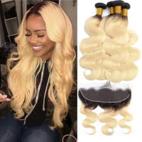 China Enropean Virgin Human Hair Extensions 13 X 6 Lace Frontal 1B / 613 Color on sale