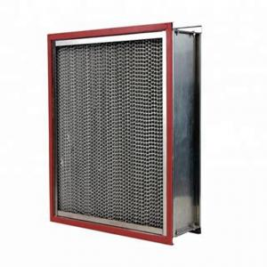 China Clean Room High Temperature Air Filter Ventilate System Use With Aluminum Pleated on sale
