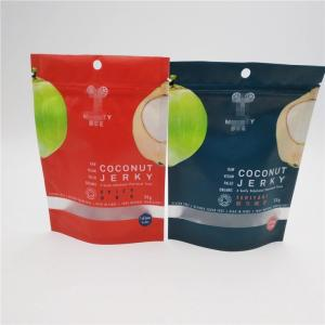 China Transparent Window Plastic Pouches Packaging For Coconut Sugar Sachet on sale