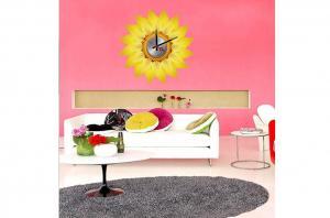 China Sunflower Vinyl Wall Decoration Designer Wall Sticker Clocks 10A002 on sale