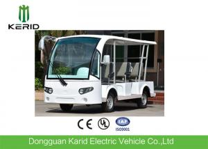 China White 8 Passenger's Shuttle Bus 48V 4KW Electric Sightseeing Vehicle Car on sale