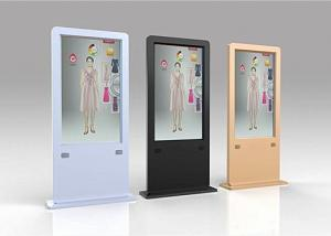 China Floor Stand Transparent OLED Screen , Thin And Light Advertising Kiosks Displays on sale