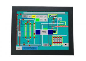 China I3 CPU 12 Inch Industrial Touch Panel PC Touch Screen 1024*768 Resolution on sale