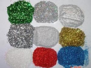 China Colorful Holographic Glitter Powder Epoxy Coated In Plastic Jar on sale