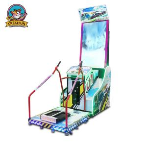 China Skiing Racing Simulator Arcade Machine Customized Color For Game Station on sale