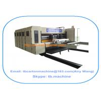TB600 1800*2500mm paperboard carton box flexo printing slotting machine with 4 color