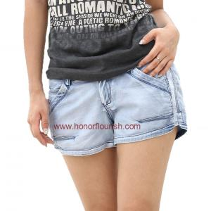 China ladie's 100% tencel denim short pants,profession jeans factory offer directly on sale