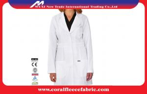 China Professtional Long-sleeve Doctors Lab Coat  , White Medical Doctor / Nurse Smock on sale