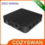 China Original Amlogic S802 Android Smart TV Box AM908A 4K XBMC Android 4.4 TV Boxes Black or White wholesale