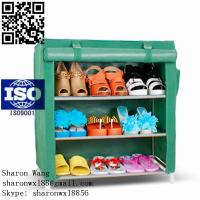 Wardrobe Closet Storage Organizer Hanger Clothes Rack Shoe Standing Portable Fashion non-woven commercial shoe racks