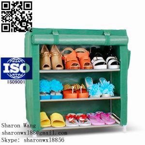 China Wardrobe Closet Storage Organizer Hanger Clothes Rack Shoe Standing Portable Fashion non-woven commercial shoe racks on sale