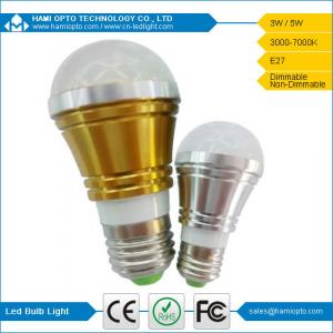 China Energy Saving Eco-friendly E27 LED Bulb Light 3W 120 degree lighting angle milky cover on sale