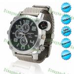 China 1080P waterproof HD spy watch Camera Night Vision with compass wholesale