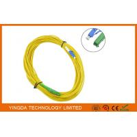 HUBER + SUHNER E2000 to LC LAN Fiber Optic Patch Cable LSZH Plenum yellow