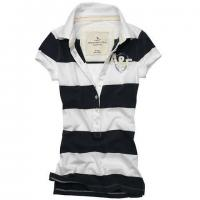 Stretch Cotton Mesh Red And White Striped Polo Shirt For Women 150g - 260g