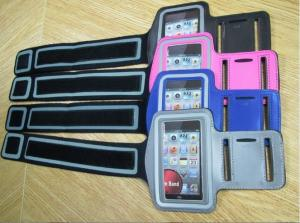 China Colorful PU/Neoprene Leather Mobile Phone Pouches , Sports Armband Case for iPhone/SAMSUNG/XPERIA on sale