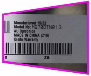 China M270DTN01.3 2560*1440 130 Pin AUO 27 350CD/M2 laptop lcd screen on sale