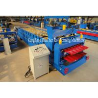 Automatic Steel Metal Glazed Step Tile Making Machine 0.3-0.6mm thickness